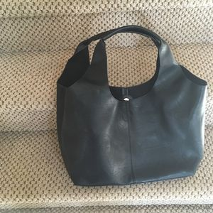 Social Threads Vegan Leather Hobo Bag